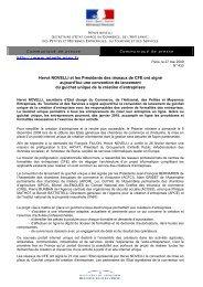 Hervé NOVELLI et les Présidents des réseaux de CFE ont ... - Inpi