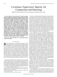 Covariance Eigenvector Sparsity for Compression and ... - IEEE Xplore