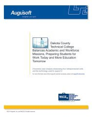 Dakota County Technical College Balances Academic ... - Augusoft