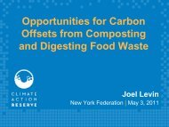 Opportunities for Carbon Offsets from Composting and Digesting ...