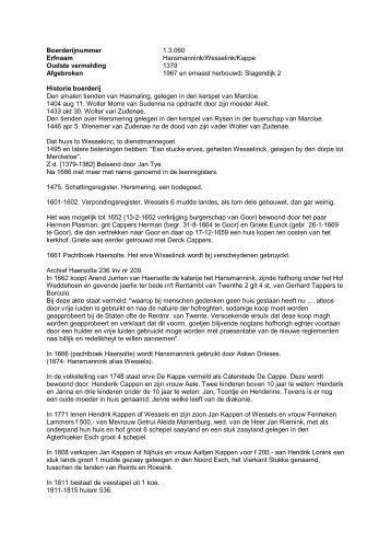 Boerderijnummer 1.3.060 Erfnaam Hansmannink ... - De Hofmarken