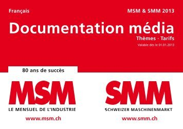 Documentation média Thèmes · Tarifs - MSM Mensuel de l'Industrie
