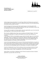 Brev til udvalgsmedlemmerne af 2. juni 2012 - Roskilde ...