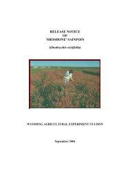 release notice of 'shoshone' sainfoin - Department of Plant Sciences ...