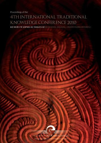 4th international traditional knowledge conference 2010