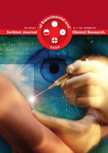 Serbian Journal of Experimental and Clinical Research Vol11 No3