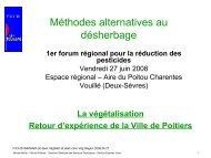Méthodes alternatives au désherbage - Région Poitou-Charentes