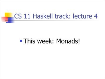 Monads - Caltech