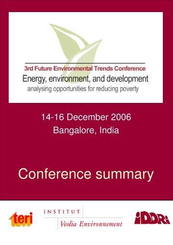 Conference summary - Iddri