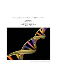 The Design, Construction and Applications of DNA Nanomachines ...