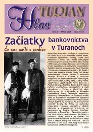 bankovníctva v Turanoch Čo sme našli v archíve - Turany