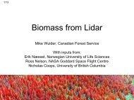 Biomass from Lidar