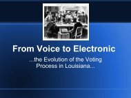 From Voice to Electronic - Secretary of State - Louisiana