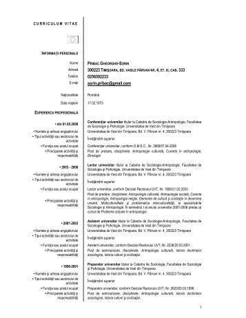 Conf. univ. dr. Sorin Pibac - CSIATIm - Universitatea de Vest din ...