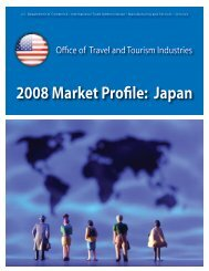 2008 Market Profile: Japan - Office of Travel and Tourism Industries