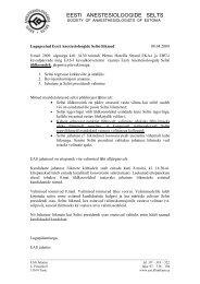 EAS üldkoosolek 2009 - Eesti Anestesioloogide selts