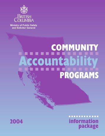 Community Accountability Programs Information ... - Ministry of Justice