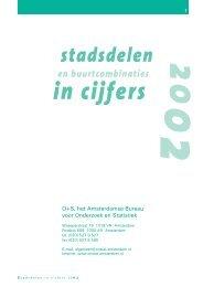 Stadsdelen in cijfers 2002 - Onderzoek en Statistiek Amsterdam