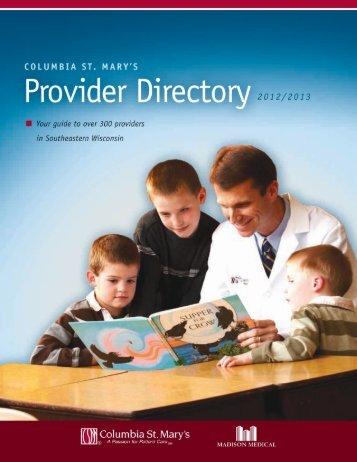 Pediatrics - Columbia St. Mary's