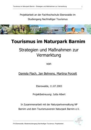 Tourismus im Naturpark Barnim