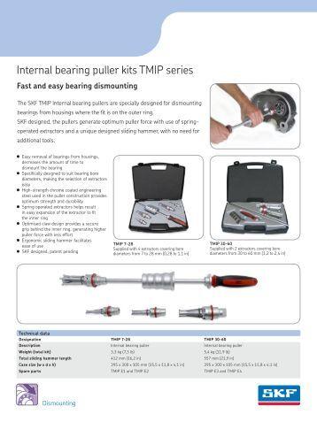 Internal bearing puller kits TMIP series