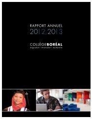 RAPPORT ANNUEL - Collège Boréal