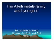 The Alkali metals family and hydrogen! - Nichols School