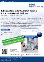 Schülerunterlage für CAD/CAM-Technik mit SolidWorks und SolidCAM