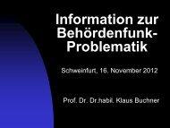 Vortrag von Prof. Dr. Klaus Buchner - Bund Naturschutz Schweinfurt