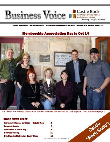 October 2011 - Castle Rock Chamber of Commerce