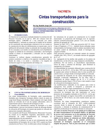 Cinta Transportadoras de Hormigón Publdbl - ICPA