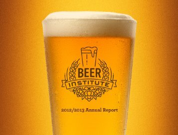 2012-2013 Annual Report (pdf) - Beer Institute
