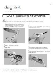 montaggio kit Upgrade