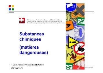 Substances chimiques (matières dangereuses) - VBSF