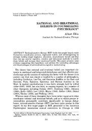 Rational and irrational beliefs in counselling psychology
