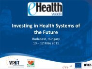 Investing in Health Systems of the Future
