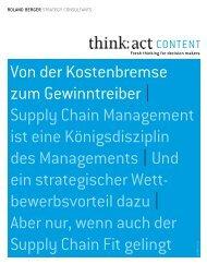 Supply Chain Management - Roland Berger