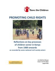 Promoting child rights in Kenya - Pelastakaa Lapset ry