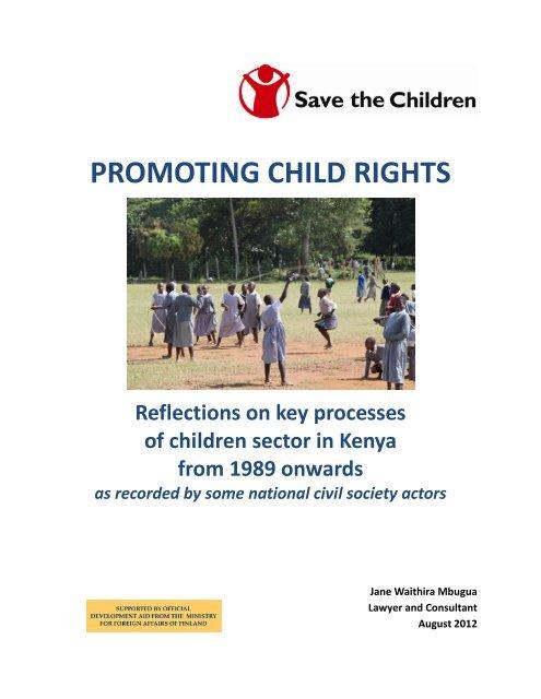 Promoting child rights in Kenya - Pelastakaa Lapset ry