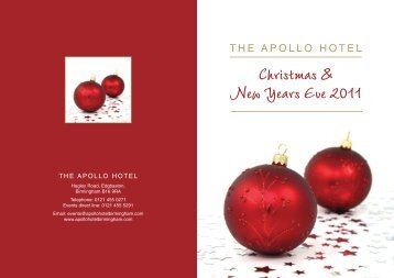 Christmas & New Years Eve 2011 THE APOLLO HOTEL