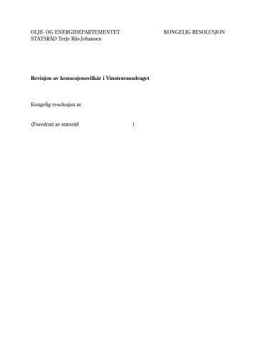 Revisjon av konsesjonsvilkår i Vinstravassdraget - Regjeringen.no