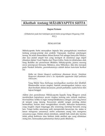 Malukyaputta Sutta - DhammaCitta