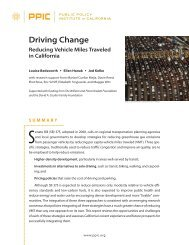 Driving Change - Public Policy Institute of California