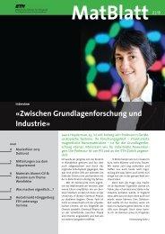«Zwischen Grundlagenforschung und Industrie» - Department of ...