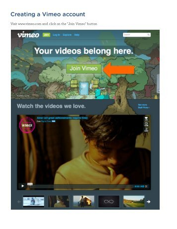 Creating a Vimeo account - InterExchange