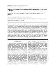 Analisis Komposisi Nutrisi Rumput Laut Sargassum ... - UNS