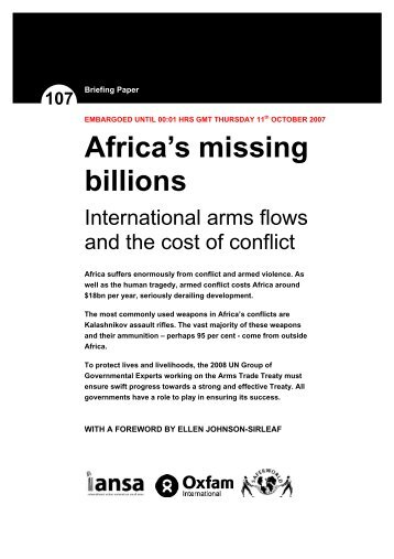 Africa's Missing Billions - Control Arms