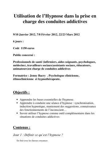 F. Hypnose et addiction - ovh.net