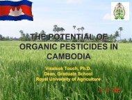 Organic Pesticides in Cambodia - Biology East Borneo