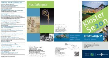 Jubiläums-Programm - Kloster Seeon